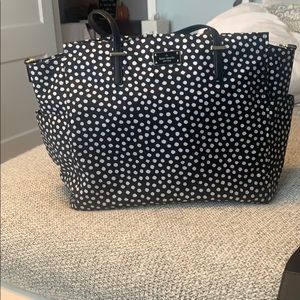 Large Black and White Kate Spade Diaper tote